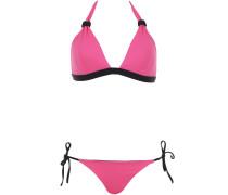 Avenue Gabriel Triangle Bikini in Pink und Schwarz
