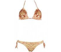 Padded Triangle Bikini mit Pailletten