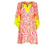 Kleid aus Seide V- Neck
