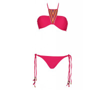 Dahlia Padded Bandeau Bikini mit Perlenstickerei