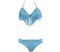 Triangle Bikini, Audrey Fringe Top, Monique Bottom