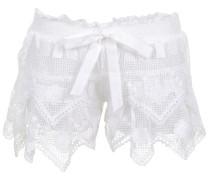 St Tropez Shorts aus hochklassigem Leinen-Cotton und Makramee-Spitze