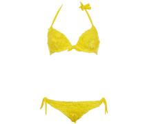 Bügel Bikini aus Makramee-Spitze in Sonnengelb