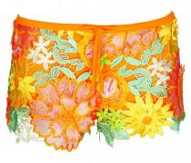 Shorts gehäkelt mit Blumen