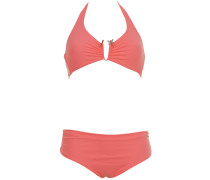 Triangle Bikini in Peach mit Libelle
