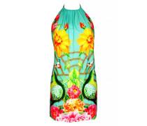 Mini Dress mit Blumenprint in türkis