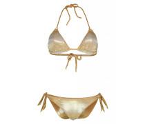 Padded Triangel Bikini Metallic