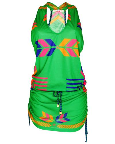 Jerseykleid Navajo in grün
