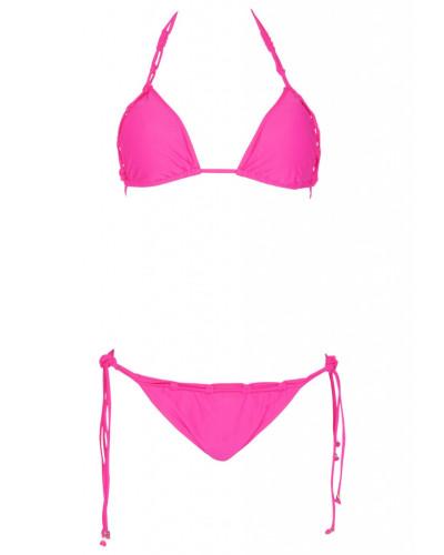 Padded Triangle Bikini in Fuchsia