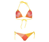 Lurex Padded Triangel Bikini Gelb