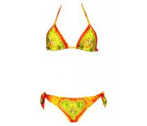 Padded Triangle Bikini im Tie Dye und Glitzer