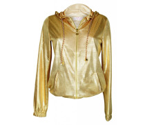 Kapzenjacke im Metallic-Look gold