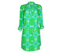 Kleid aus Seide mit Gürtel in Grün