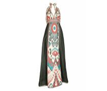 Ikat Halter-Seiden-Kleid