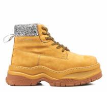 Chunky hiking boots