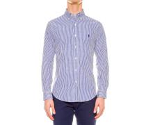 Hemd aus Baumwollpoplin mit Streifen
