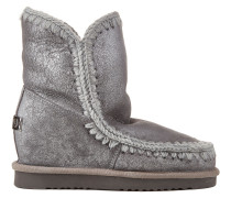 "Metallic Shearling-Boots ""Eskimo Inner Wedge"""