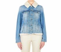 Jeans Jacke mit Eco-Pelz Fütterung