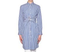 Hemdblusenkleid aus Baumwolle mit Streifen