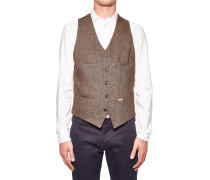 Weste aus Leinen-Woll-Tweed
