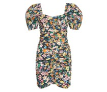 Minidress mit Blumendruck