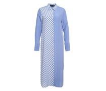 Chemise-Kleid mit Kontraststreifen