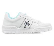 Low-Top Sneakers mit Logostickerei