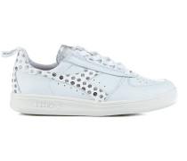Ledersneakers mit Musterprint