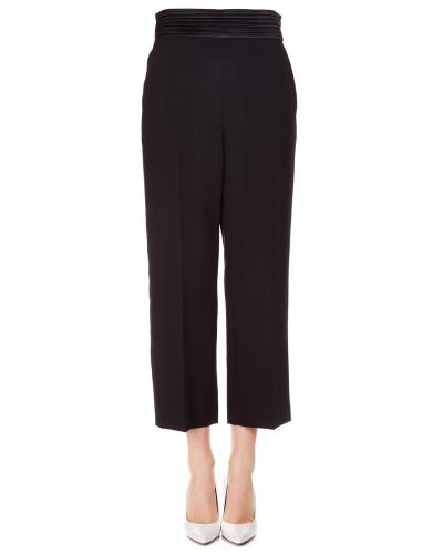 Cropped Hosen mit Bügelfalten
