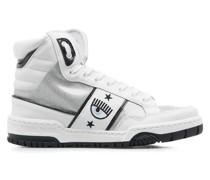 High Top Sneakers im Glitzerfinish
