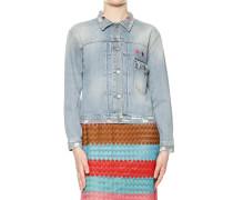 Jacke aus Baumwolldenim mit Stickerei