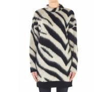 Langer Pullover im Animal-Print