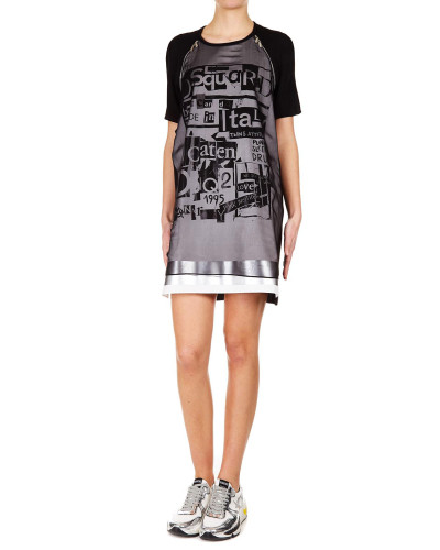 T-Shirt-Kleid aus Seidenchiffon