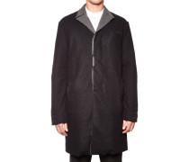 Mantel aus Schurwolle und Leinen