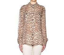 Bluse mit Tigerprint