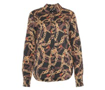 Bluse mit Leopardenprint