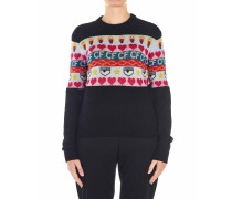 Pullover mit Strickmotif