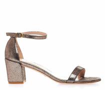 Sandaletten im Glitzer-Finish