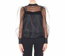 Halbtransparente Bluse in Organza