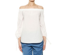 Schulterfreie Bluse aus Baumwolle