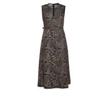 Midi Kleid mit Allover Print