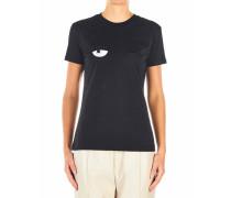 T-Shirt mit frontaler Stickerei