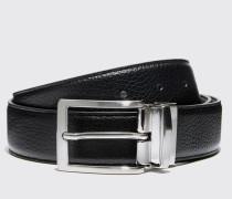 Cintura reversibile granata nera/marrone