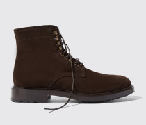 William II Brown Suede