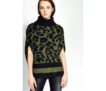 CAPE MIT LEOPARDENMUSTER