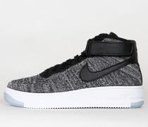 Nike Womens Air Force 1 Flyknit - Black / Black White