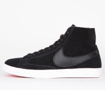 Nike Wmns Blazer Mid Premium - Black / Black - Action Red - Summit White
