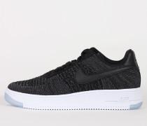 Nike Wmns Air Force 1 Flyknit Low  - Black / Black
