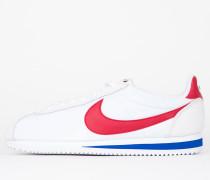 Nike Classic Cortez Nylon Premium QS - White / Varsity Red - Varsity Royal