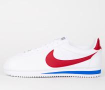 Nike Wmns Classic Cortez Leather - White / Varsity Royal / Varsity Red